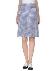 Just In Case Skirts Knee Length Skirts Women Blue