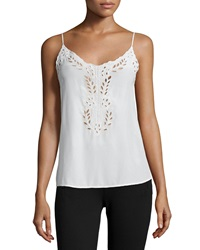 Joie Kiefer Embroidered Silk Cami Top