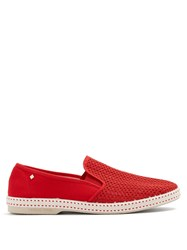 Rivieras Classic 20 Canvas Loafers Red
