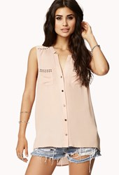 Forever 21 Studded Flat Collar Shirt