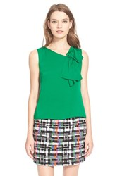 Women's Milly Silk Origami Bow Shell Emerald
