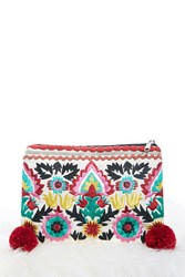 Forever 21 Charade Ornate Clutch Natural Multi