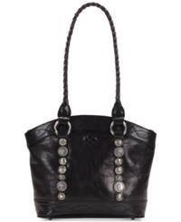 Patricia Nash Studded Hardware Zorita Small Satchel Black