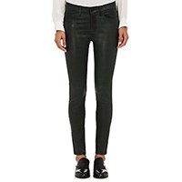 Frame Women's Le Skinny De Jeanne Leather Jeans Dark Green