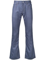 Junya Watanabe Comme Des Garcons Man Contrast Pockets Bootcut Jeans Blue