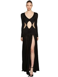 Roberto Cavalli Rib Knit Dress W Cutouts Black