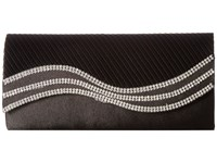 Jessica Mcclintock Karen Satin Wave Stone Clutch Black Clutch Handbags