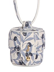 Jacquemus Le Micro Vanity Printed Leather Bag Blue Olives