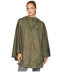 Outdoor Research Panorama Point Poncho Fatigue Herringbone Clothing Green