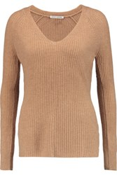Autumn Cashmere Ribbed Sweater Camel