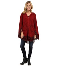 Scully Euphrates So Soft Poncho Burgundy Women's Coat