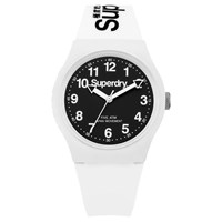 Superdry Unisex Urban Silicone Strap Watch White Black