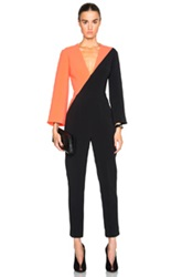 Roksanda Ilincic Malkyn Jumpsuit In Neon Black Orange