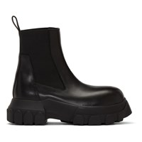 Rick Owens Black Bozo Tractor Beetle Boots