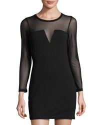 Lucca Couture Bianca Illusion Neck Dress Black