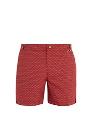 Danward Palma Square Print Swim Shorts Red Multi