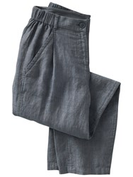 Poetry Linen Tailored Trousers Blue