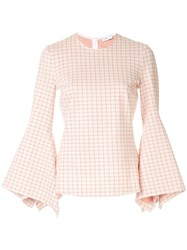 Rosetta Getty Flared Sleeve Blouse Pink
