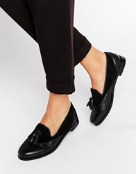 Park Lane Suede And Leather Loafer Black Suede