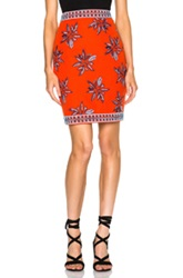 Elle Sasson Francesca Skirt In Red Floral