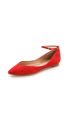 Belle By Sigerson Morrison Sable Ankle Strap Flats Red