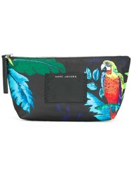 Marc Jacobs 'B.Y.O.T Parrot' Printed Make Up Bag Black