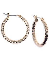Jones New York Small Hammered Hoop Earrings Gold