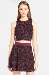 Opening Ceremony 'Cabbage' Jacquard Knit Crop Tank Beet Multi