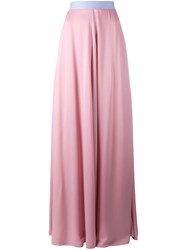 Roksanda Ilincic Long Skirt Pink Purple