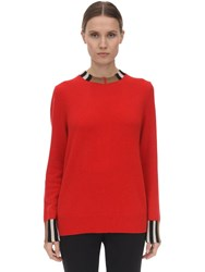Burberry Cashmere Knit Sweater Red