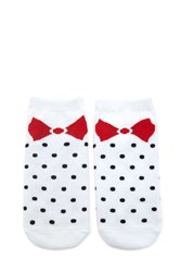 Forever 21 Polka Dot Bow Socks