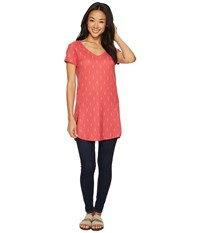 Fig Clothing Lox Tunic Obsidian Pink Red