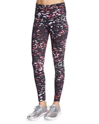 Varley Pacific Printed Full Length Sport Leggings Women's Size Large 8 10 Tiger Lilly