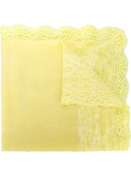 Ermanno Scervino Lace Detail Scarf Yellow And Orange