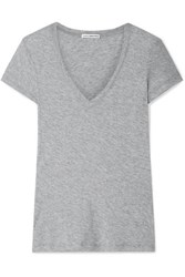 James Perse Casual Slub Supima Cotton Jersey T Shirt Gray