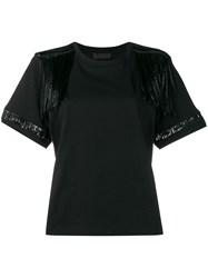Diesel Black Gold Jersey Top With Lace Details Black