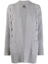 Lorena Antoniazzi Short Knitted Cardigan Grey