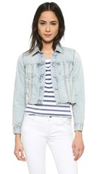 Blank Cropped Jean Jacket Karaoke Disaster