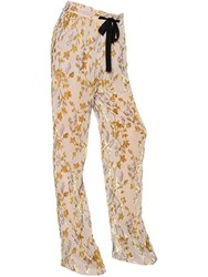 Etro Floral Viscose And Silk Devore Pants