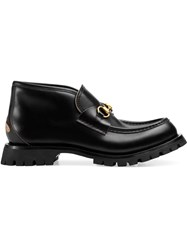 Gucci Leather Ankle Boot Black