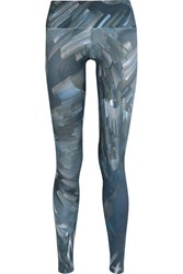 Bodyism I Am Ready Printed Stretch Jersey Leggings Navy