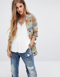 Denim And Supply Ralph Lauren By Beacon Print Shawl Cardigan Multi