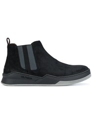 Tommy Hilfiger Chelsea Boots Leather Suede Rubber Black