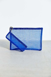 Urban Outfitters Mesh Pouch Set Blue
