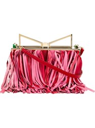 Sara Battaglia 'Lady' Clutch Red