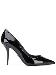 Dolce And Gabbana Polished Leather Pointed Pumps 60