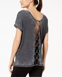 Gaiam Eden Relaxed Strappy Back T Shirt Black