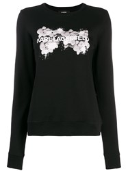 Karl Lagerfeld Orchid Logo Sweater Black