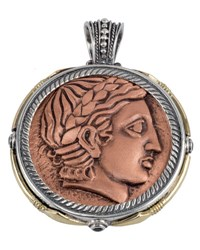 Konstantino Men's Aeolus Two Sided Apollo Pendant W Spinel