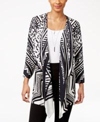 Jm Collection Petite Printed Draped Cardigan Only At Macy's Ankara Tribe